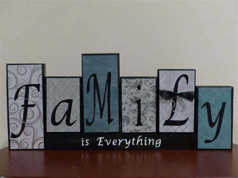 personalized family name decorative block letters sign