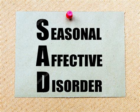 seasonal affective disorder l sad as seasonal affective disorder written on paper note