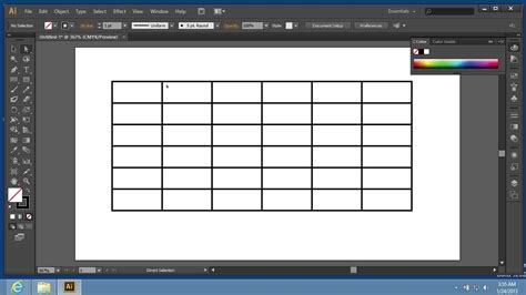 How To Use Grid Tool In Adobe Illustrator Cs6 Youtube Photoshop Table Template