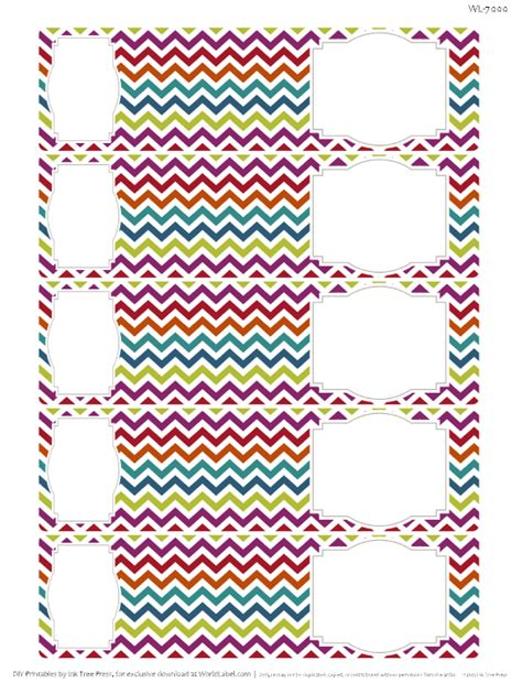 chevron pattern name tags chevron fever free printable labels worldlabel blog
