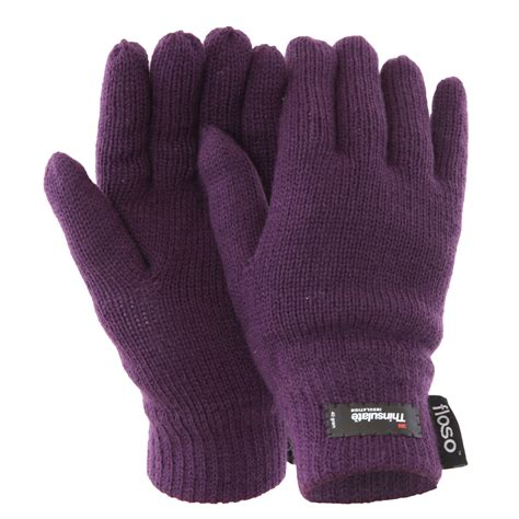 knitted gloves floso womens thinsulate thermal knitted winter