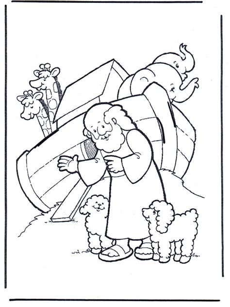 free coloring pages of noah