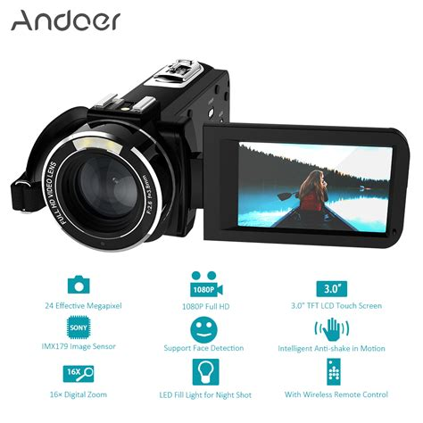 full hd video camera andoer hdv z20 1080p full hd wifi digital video camera 3 0