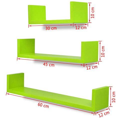 mensole per dvd 3 mensole per pareti verde mdf per libri dvd vidaxl it