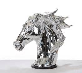 Floor And Decor Miami sz0002 modern silver horse head sculpture