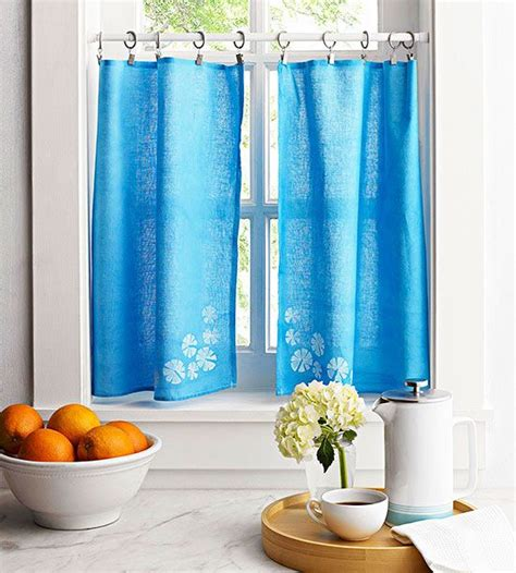 diy kitchen curtains towels sacks and dish towels on