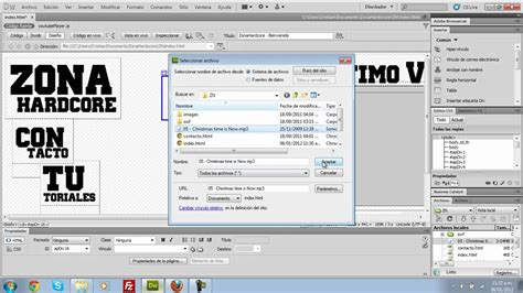 tutorial en dreamweaver inserta audio de fondo en tu pagina web tutorial