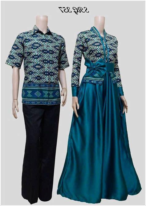 desain baju batik gamis terbaru 20 model baju batik muslim couple terbaru elegan 1000