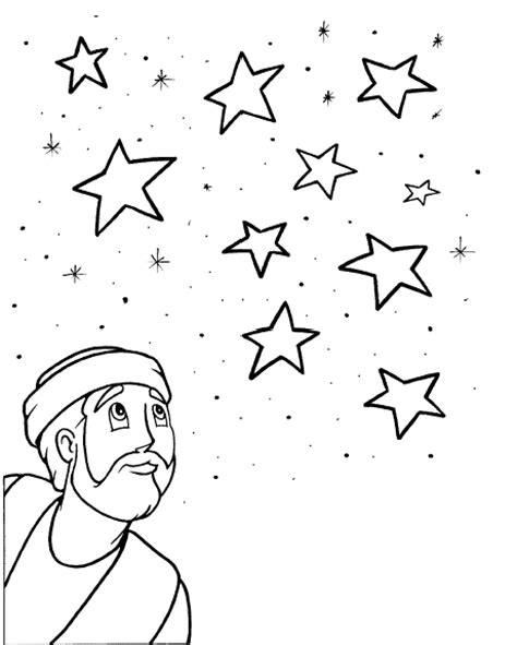 abraham stars coloring page god calls abraham the friend of god