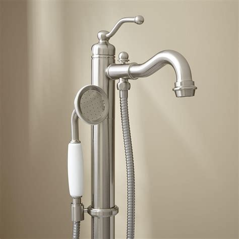 bathtub faucet with handheld shower diverter faucet