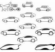Evoluzione Dellautomobile Di Secolo Illustrazione