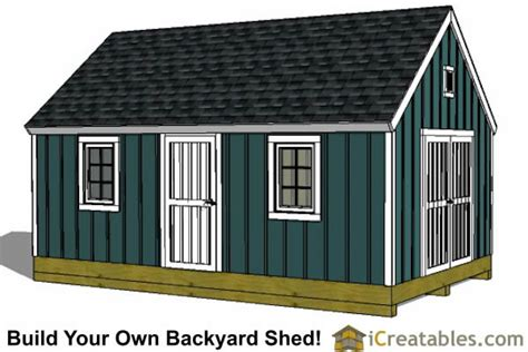 24 X 24 Shed by 16x24 Colonial Style Shed Plans