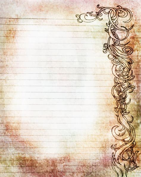 free printable vintage journal pages printable amber and rose colored filigree lined journal