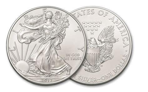 1 oz silver dollar 2017 1 dollar 1 oz american silver eagle bu coin govmint