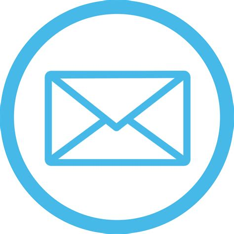 email icon blue transparent png stickpng
