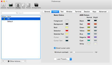 iterm2 color schemes linux color scheme setup for iterm user