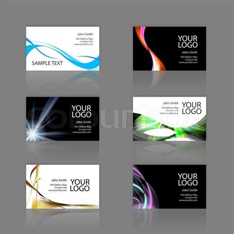 Visitenkarten Hintergrund Vorlagen Kostenlos by Ein Sortiment 6 Moderne Visitenkarten Vorlagen