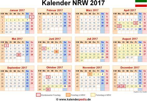 Nrw Kalender 2017 Kalender 2017 Nrw Ferien Feiertage Excel Vorlagen