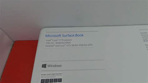 jual microsoft surface book base i7 16gb 1tb nvidia 965m