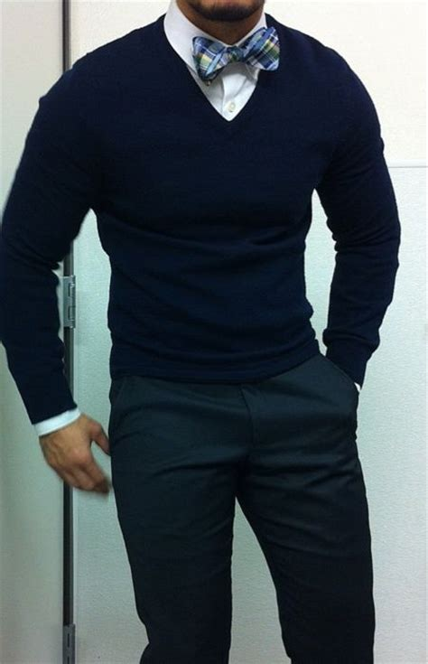 And Gentlemen Sweater bow tie v neck sweater looking classic marketing and ties