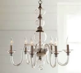glass for chandeliers blown glass chandelier pottery barn