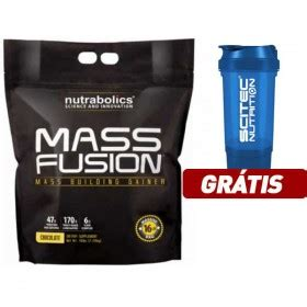 Grosir Mass Fusion 16 Lb mutant mass 6 8kg 6800g gainer mais massa muscular corposflex