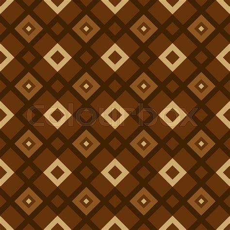 pattern geometry brown vector seamless brown geometric pattern stock vector