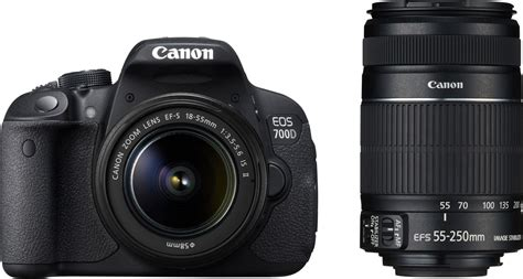 Kamera Canon Eos 700d Kit 2 canon eos 700d dslr with 18 55mm is ii 55 250mm is ii combo dual lens kit