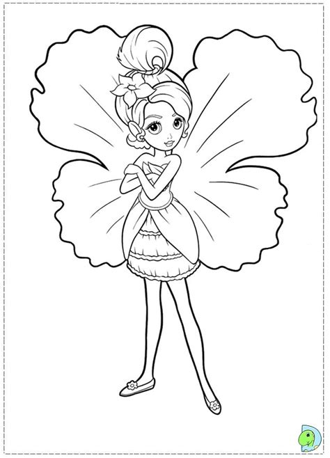 barbie thumbelina printable coloring pages