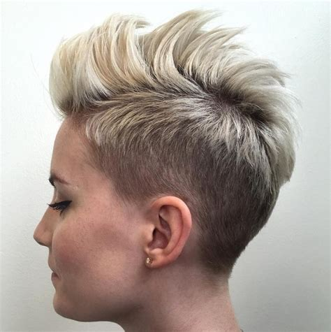 short hayles shorter on one side and spikey female mohawk hairstyles that ll really turn heads punk 101