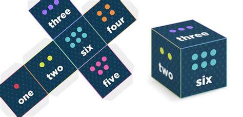 printable dice numbers numbered word dice printables and freebies pinterest