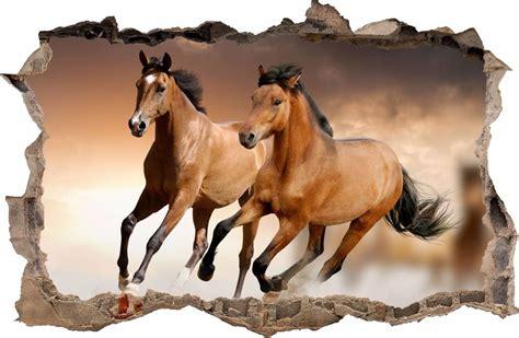 Pferde Wandaufkleber by Wandaufkleber Loch In Der Wand 3d Pferd Pferde Wandtattoo