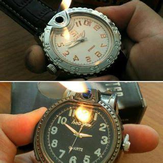 Korek Api Gas Jam Tangan Sofenir Hadiah Korek Api Mancis Murah jual lighter jam tangan unik dengan korek api tokokomputer007