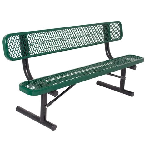 6 foot bench quick ship 6 foot thermoplastic bench