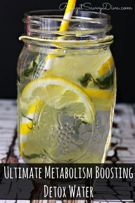 Water Detox Drink by Ultimate Metabolism Boosting Detox Water Recipe Budget