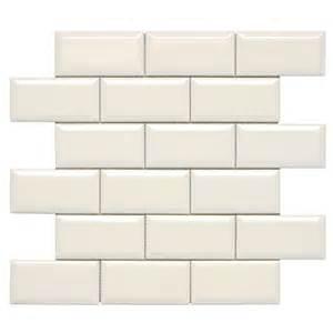 Bone coloured subway tiles