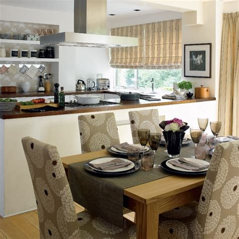 open kitchen to dining room stylish open plan kitchen dining room housetohome co uk