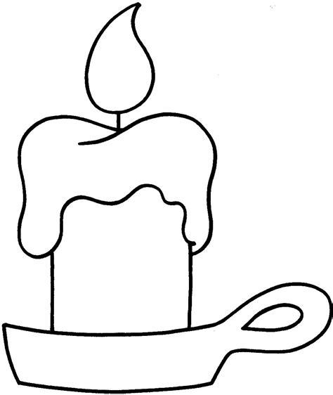 disegno candela candela disegni da colorare