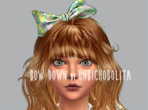 my sims 4 blog hair bow by karzalee my sims 4 blog hair bow recolors by unbichobolita