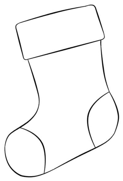 printable christmas stocking template stocking digi st rubber clear digi sts clipart