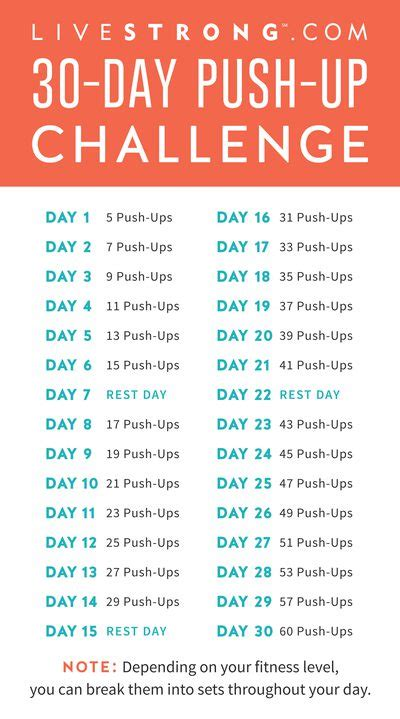 push ups challenge the 30 day push up challenge livestrong