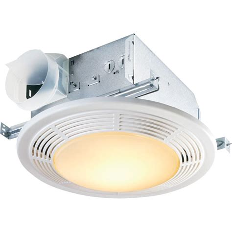 bathroom exhaust fan with light and nightlight nutone decorative white 100 cfm ceiling exhaust bath fan
