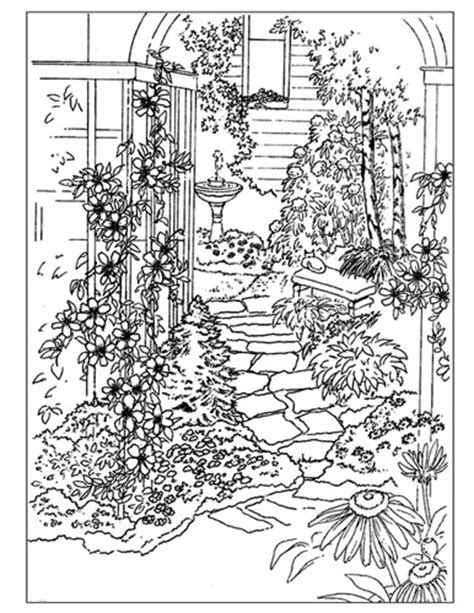 secret garden coloring book color pages hover
