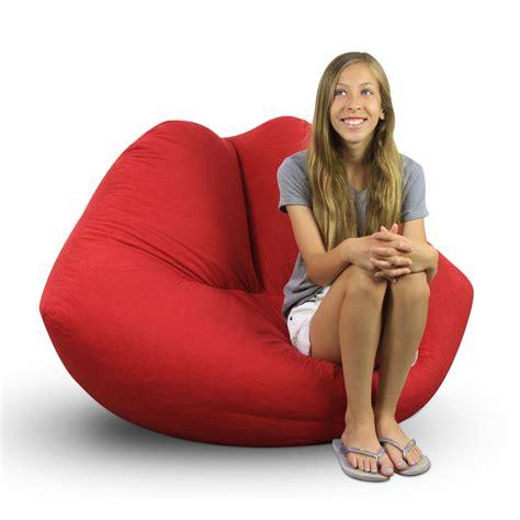 lip shaped bean bag chairs elite products bean bag chair home furniture