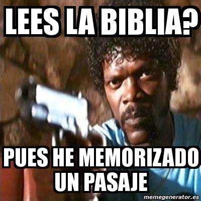 Generator De Meme - meme pulp fiction lees la biblia pues he memorizado un