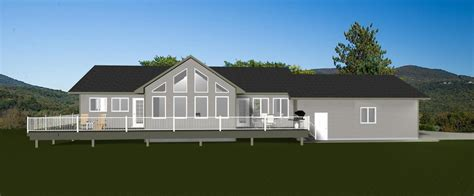 Lots Of Windows House Plans Decor House Plans With Walkout Basements L Shaped Ranch With Front Walkout Basement And Side Load