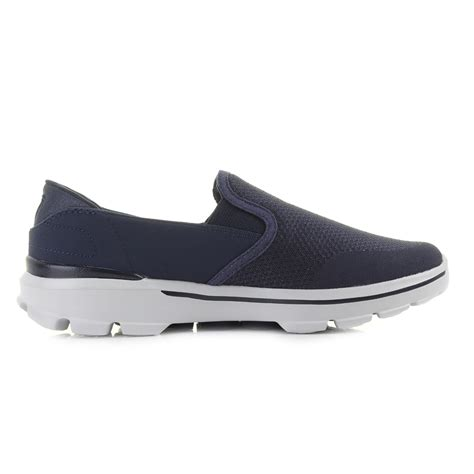 Sepatu Skechers Go Walk 3 Navy Slip On Premium Import Size 37 41 mens skechers go walk 3 navy grey comfort slip on trainers