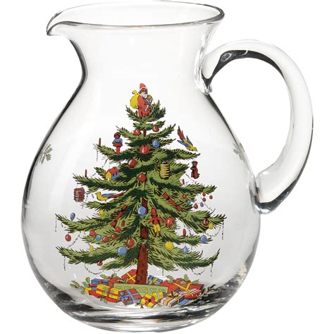 spode christmas tree pitcher jug louis potts
