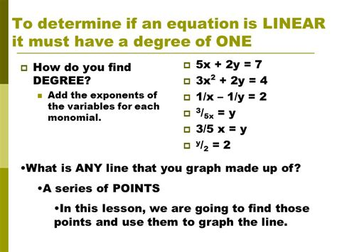 solving graphing linear equations ppt