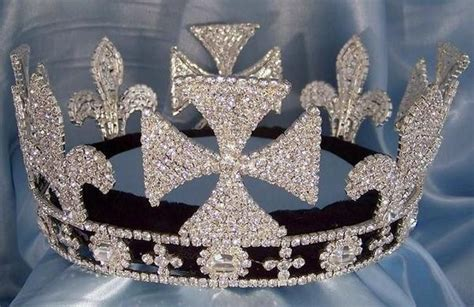 king lear rhinestone full silver mens crown crown